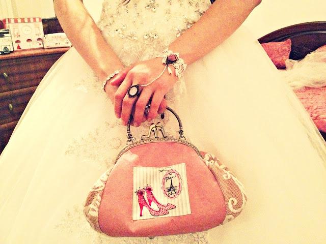 Сумочка невесты Свадьба в розовых тонах Мастер: Магазин Бобровая хатка Оксана Мороз - сумочки на заказ