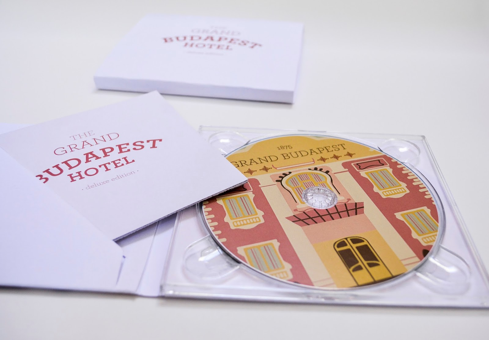 Grand Budapest Hotel CD Cover for Entertainment Packaging Designed By Konstantina Vatavali