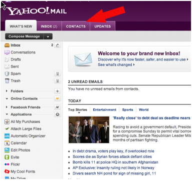 How to Grab Email List of Your Facebook Friends Using Yahoo Mail