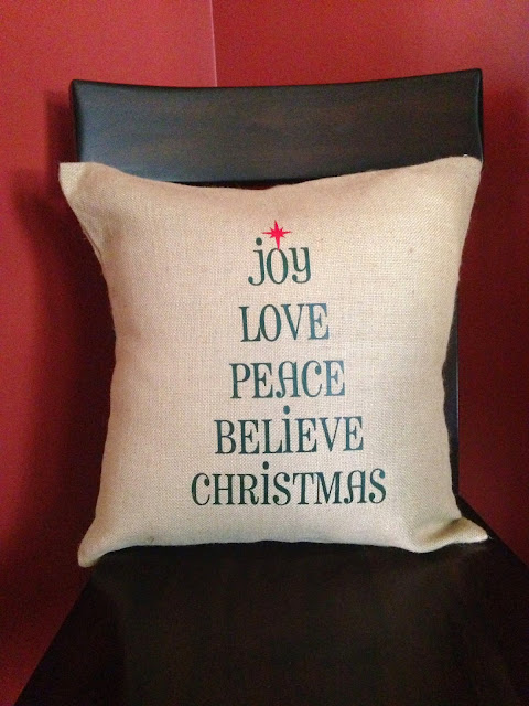 burlap, pillow covers, christmas blanks, heat transfer vinyl, htv