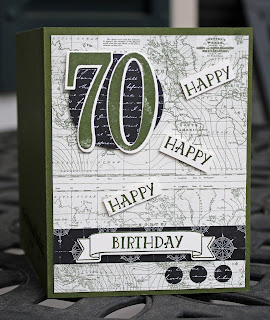 Large birthday framelits make this masculine birthday card pop
