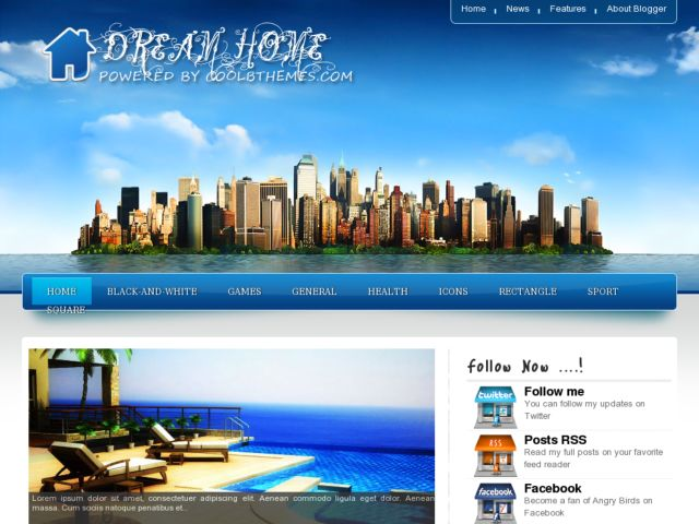 Dream Home Blogger Template