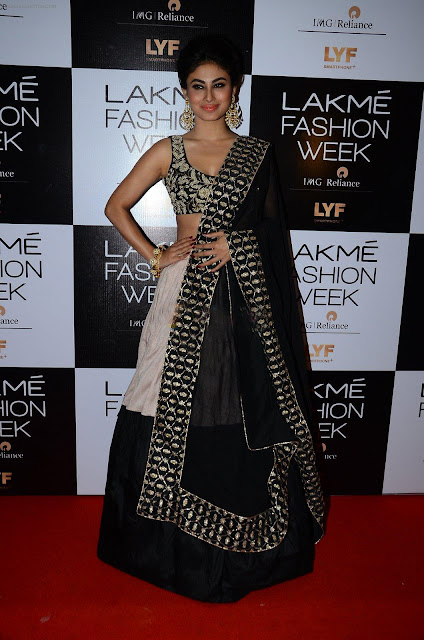 Mouni Roy in Black Lehenga Choli by Payal Singhal