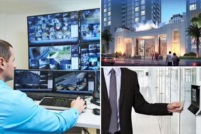 Hệ thống an ninh bảo vệ 2 lớp, camera giám sát 24/24