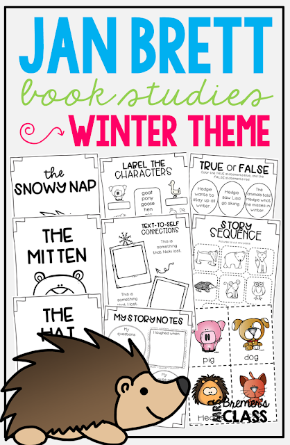 Jan Brett book study companion activities, featuring literacy activities for The Mitten and The Hat. Perfect for a winter theme in Kindergarten and First Grade! Packed with fun ideas and guided reading literacy activities. Common Core aligned. K-1. #janbrett #winter #bookstudy #bookstudies #literacy #guidedreading #1stgrade #thehat #themitten #kindergarten #bookcompanion #bookcompanions #1stgradereading #kindergartenreading #picturebookactivities #winterbooks
