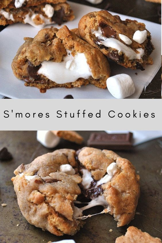 S'mores Stuffed Cookies