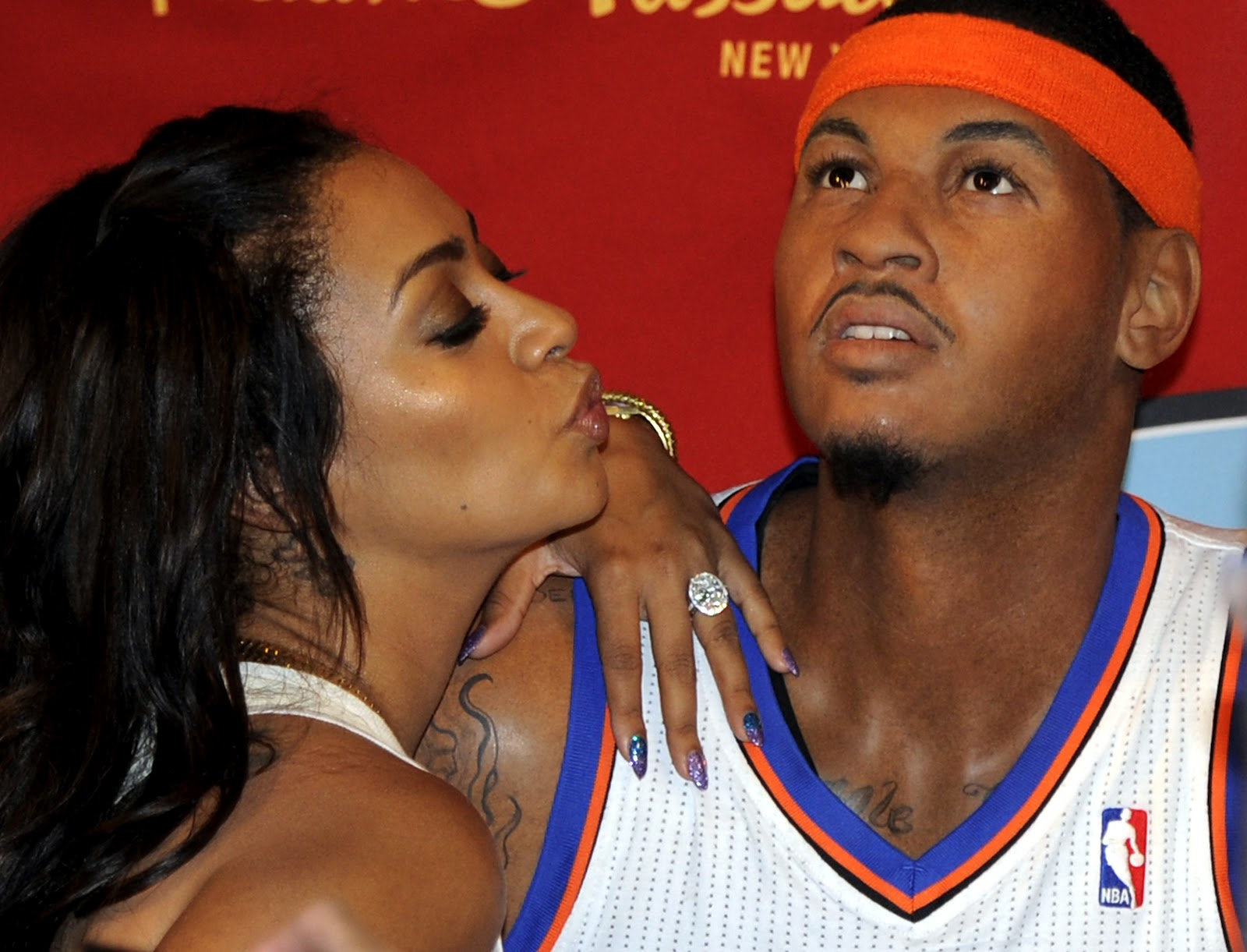Carmelo Anthony Wife LaLa 2012   New Sports Stars