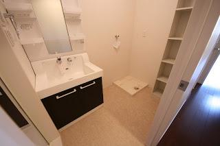 徳島市 二軒屋 オートロック 1LDK 居室 脱衣所 洗面台