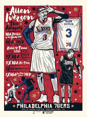 "Philadelphia 76ers ""The Answer"" Allen Iverson Screen Print by Stolitron x Phenom Gallery"