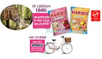 Logo ''Haribo è naturale essere felici'': vinci biciclette Doniselli e 1 weekend su una Casa sull'Albero