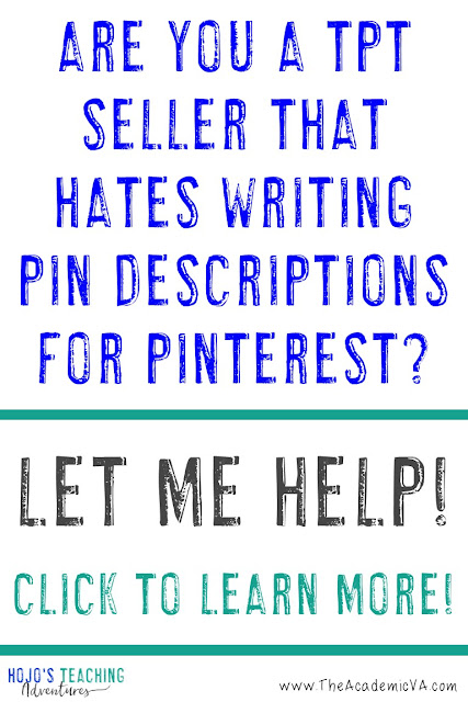 Are you a TpT Seller that hates writing pin descriptions? We can help!