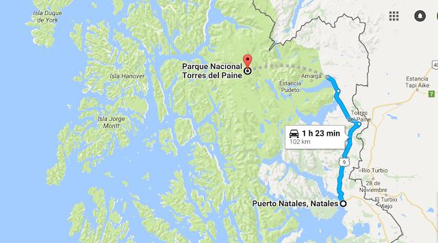 De Puerto Natales a Torres del Paine