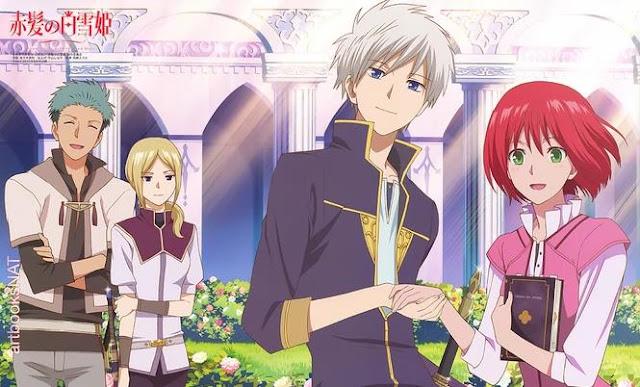 Akagami no Shirayukihime (Snow White with the Red Hair) - Best Fantasy Romance Anime list