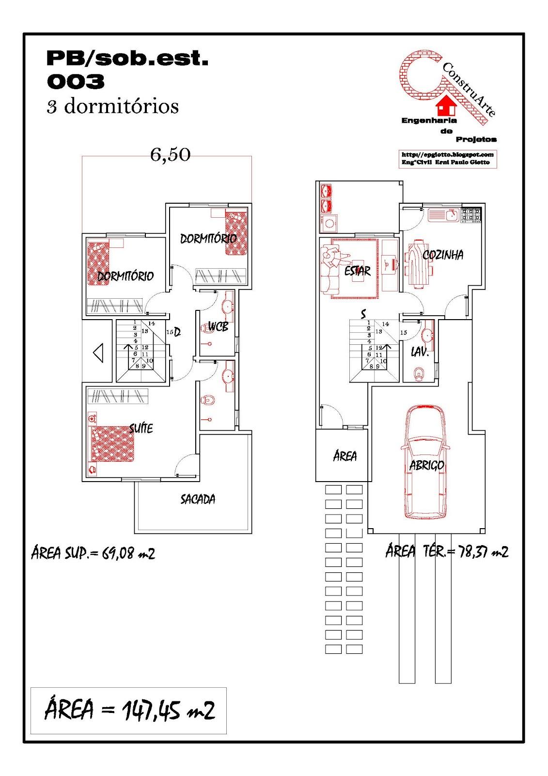 de Planta Baixa Modelos de Sobrados Planta de casa projeto  #B41717 1131 1600