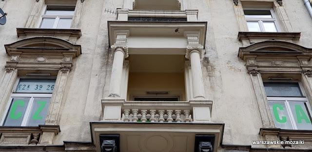 balkon Warszawa Warsaw kamienica Śródmieście warszawskie kamienice architektura architecture