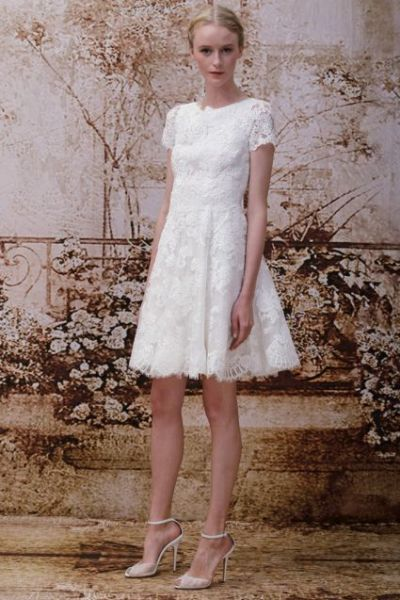 Vestidos de novia cortos simples