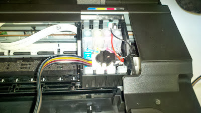 epson printer ink system connected with