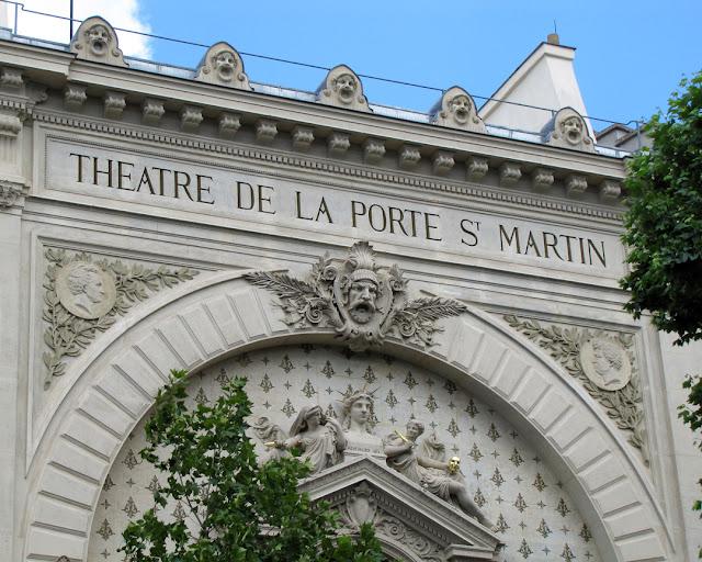 Facade of the Théâtre de la Porte Saint-Martin by Oscar de la Chardonnière and Jacques-Hyacinthe Chevalier, Boulevard Saint-Martin, Paris