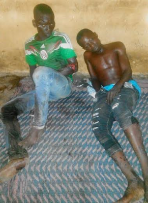 Robbery suspects knocked down by trailer during police pursuit along Lagos/Ibadan expressway (See Photo)