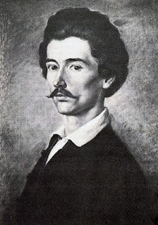 A portrait of Sándor Petőfi, one of the key figures in Hungary's 1848 Revolution.