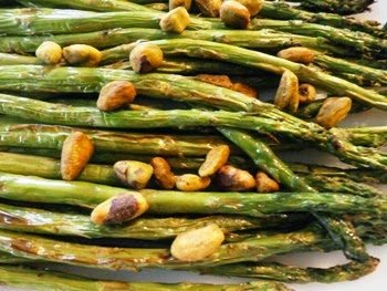 Broiled Asparagus with Pistachio Nuts