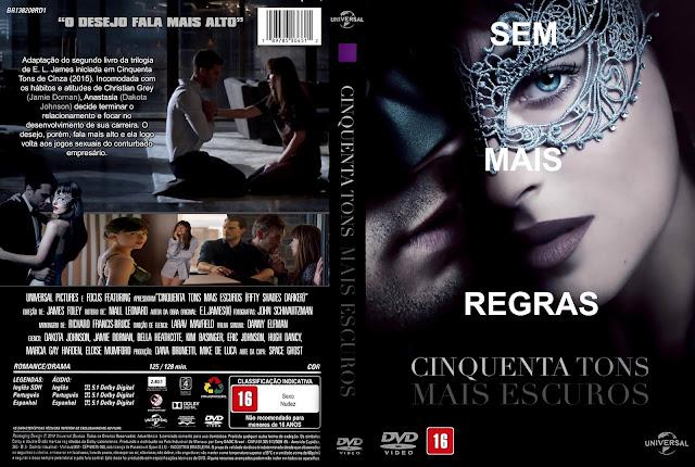 Capa DVD Cinquenta Tons Mais Escuros