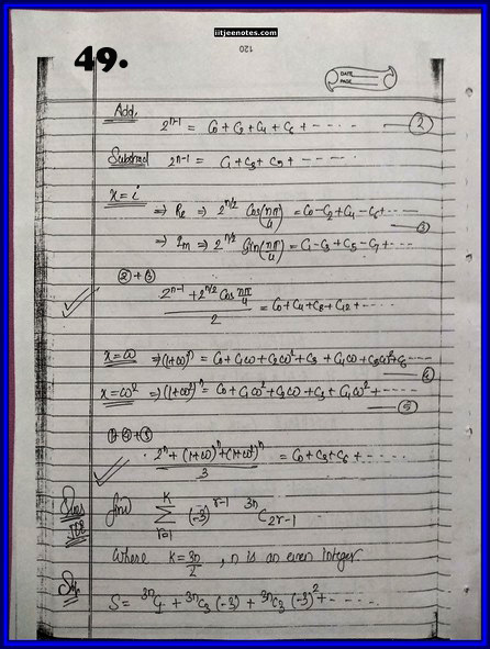 IITJEE Competition Notes On Complex Number 49