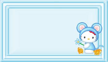 Marcos de Hello Kitty para Imprimir Gratis