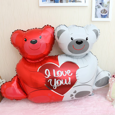 Balon Foil Love Bear