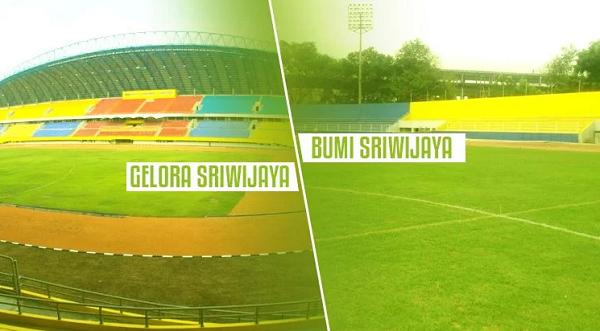 Head to Head Dua Stadion Kandang Sriwijaya FC