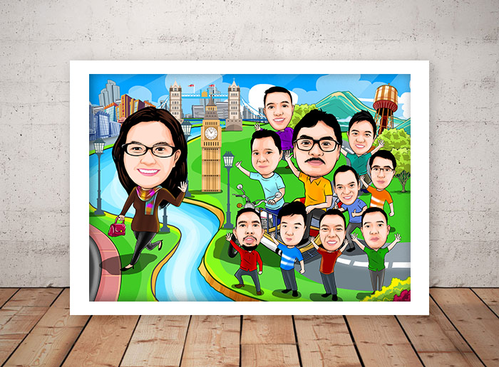 Bikin karikatur  di Medan