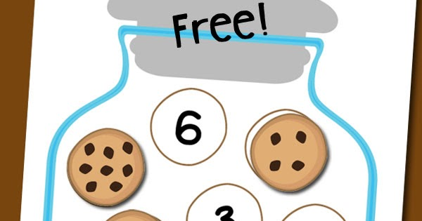 Cookie Jar Number Matching Free Printable : Totschooling ...