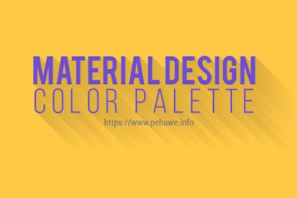 Membuat Material Design Color Palette di Halaman Statis Blog