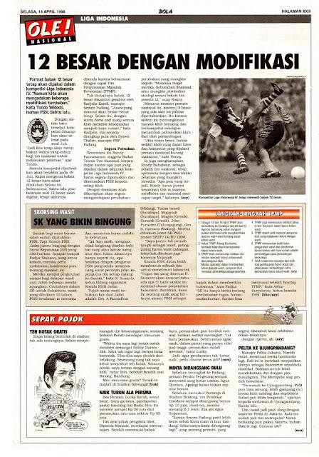 12 BESAR LIGA INDONESIA 1998