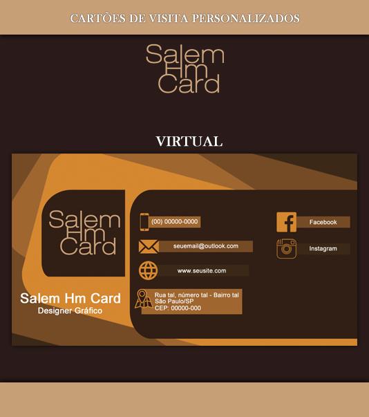Cartão de Visita - Modelo 1 - Designer Gráfico - Virtual