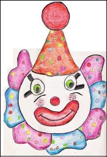 Máscara palhacinho carnaval