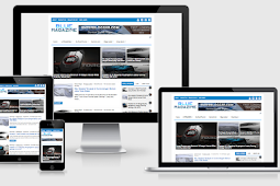 Premium Template Blogger Blue Magazine Responsive