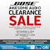 BOSE 3-day clearance sale kicks off 1st weekend of September