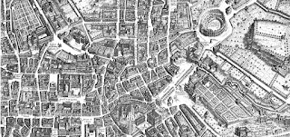 A section of Falda's incredibly detailed map of Rome