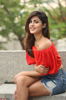 Rhea Chakraborty in Red Crop Top and Denim Shorts Spicy Pics ~  Exclusive 278.JPG