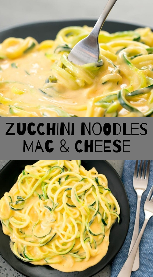 Zucchini Noodles Mac & Cheese #maincourse #noodles #mac #cheese
