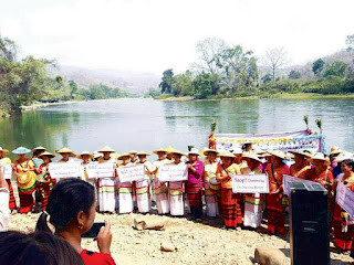 Over 400 local villagers gather to call for halt of dams on Namtu River in northern Shan State