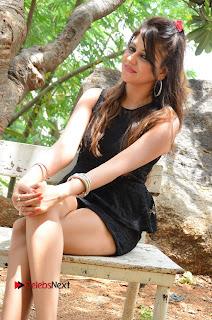 Actress Nikitha Pictures in Black Short Dress at Damayanthi Movie Opening  0100.JPG