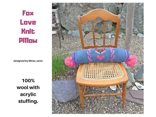 Fox Love bolster pillow design by Minaz Jantz