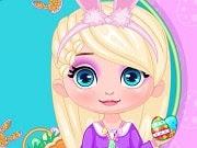 Elsa se está preparando para la próxima Pascua. En primer lugar quiere crear un bello huevos de Pascua y tu puedes ayudar a elegir un lindo modelo y pintar los huevos. Luego hay que ayudarla con su vestido del día de Pascua de su armario. Diviértete con la parte más divertida, juega con Elsa a encontrar el huevo de Pascua que creó en su patio trasero.