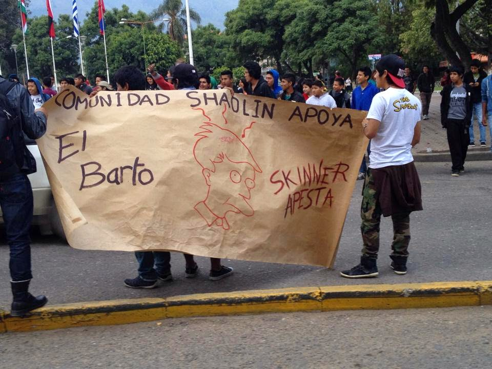 el-barto-skinner-apesta-marcha-bolivia-simpsons-cochabandido-blog