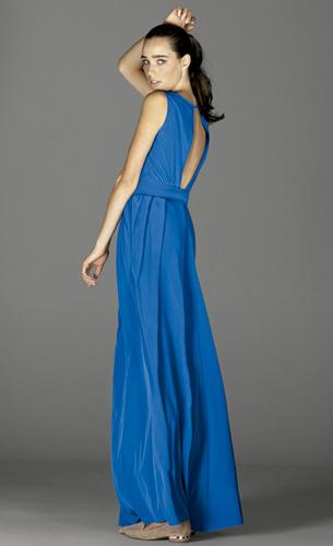 vestido largo con escote en la espalda de fiesta El Corte Ingles de Juanjo Oliva