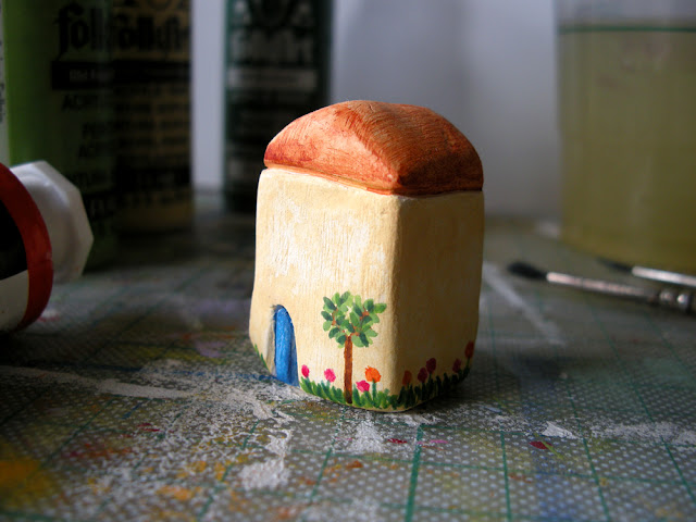 miniature clay house