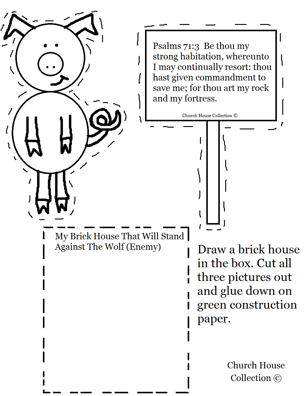 Coloring pages 3 little pigs - Church House Collection Blog The Three Little Pigs And The Big Bad Wolf Craft And Lesson