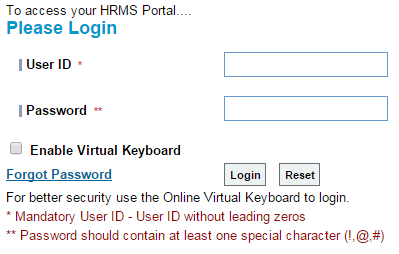 How to Login SBI HRMS Portal